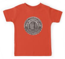 Aztec Time Lord Black and white Pencils sketch Art Kids Tee
