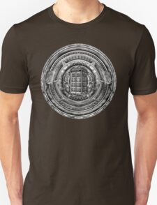 Aztec Time Lord Black and white Pencils sketch Art T-Shirt
