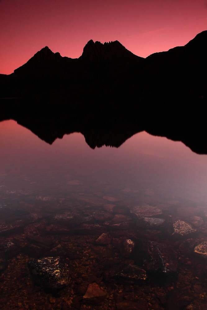 Cradle mountain silhoutte by Claire Walsh