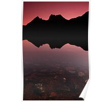Cradle mountain silhoutte Poster