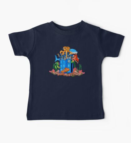 Blue Phone Booth Under the sea Baby Tee