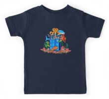 Blue Phone Booth Under the sea Kids Tee