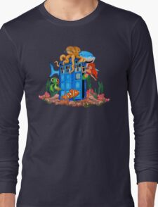 Blue Phone Booth Under the sea T-Shirt