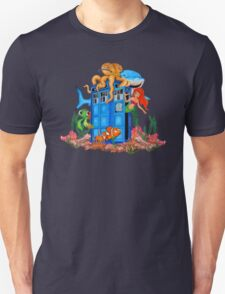 Blue Phone Booth Under the sea Unisex T-Shirt