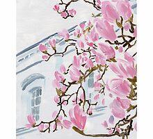 St. Leonard's Magnolias II by Janice Petitjean