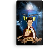 Time and Space Traveller with Banana Metal Print