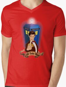 Time and Space Traveller with Banana Mens V-Neck T-Shirt