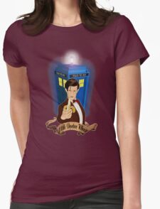 Time and Space Traveller with Banana Womens Fitted T-Shirt