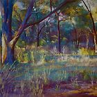 Stringybark in Autumn Light by Lynda Robinson