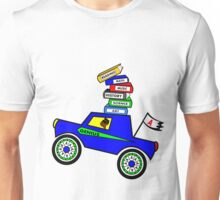 Genius Boy Driving Sports Car Unisex T-Shirt