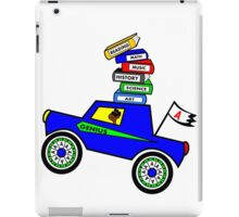 Genius Boy Driving Sports Car iPad Case/Skin