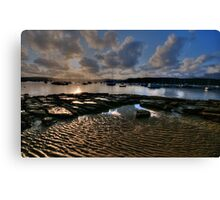 Ripples and Reflections - Paradise Beach, Sydney - The HDR Experience Canvas Print