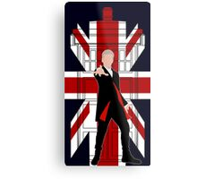 Union Jack British Flag with 12th Doctor Metal Print