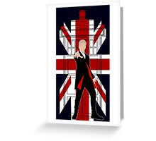 Union Jack British Flag with 12th Doctor Greeting Card