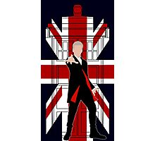 Union Jack British Flag with 12th Doctor Photographic Print