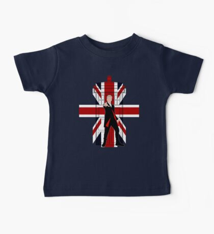 Union Jack British Flag with 12th Doctor Baby Tee