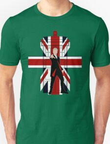 Union Jack British Flag with 12th Doctor Unisex T-Shirt