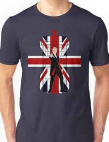 Union Jack British Flag with 12th Doctor Unisex T-Shirt