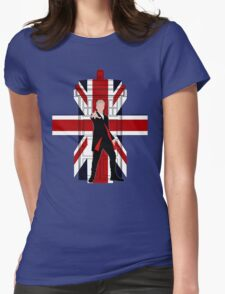 Union Jack British Flag with 12th Doctor Womens Fitted T-Shirt