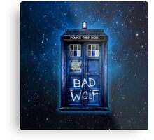 Space And Time traveller Wolf Metal Print
