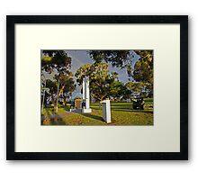 Wonthaggi Cenotaph Framed Print