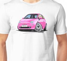 New Fiat 500 Pink Unisex T-Shirt
