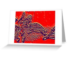 no words just evolve Greeting Card