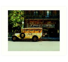Traveling Back to the Union Hotel  Art Print