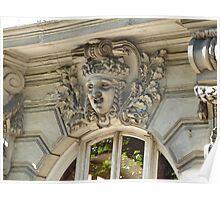 Architectural detail, Paris, France Poster