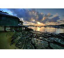 Sunset On The Rocks - Paradise Beach, Sydney - The HDR Experience Photographic Print