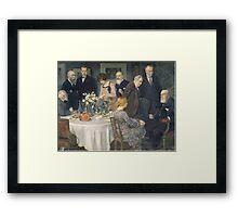 Jules Alexandre Grün A Group of Artists Framed Print