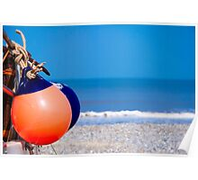 Beach Buoys Poster