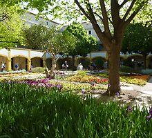 Van Gogh Courtyard Garden by Susan Moss
