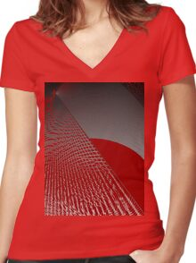 Roaming Red Women's Fitted V-Neck T-Shirt