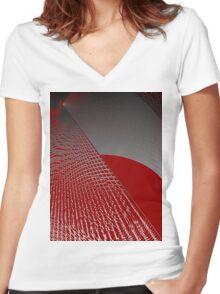 Roaming Red Women's Fitted V-Neck T-Shirt