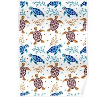 The Sea Turtle Pattern Poster