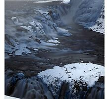 Gullfoss Waterfall - Iceland, Infrared by Matthew Kocin