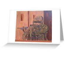 British Soldier in Afganistan Greeting Card