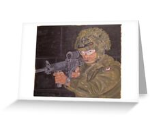 Canadian Soldier Greeting Card