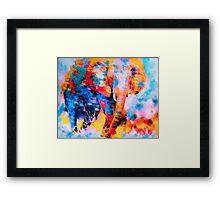 Elephant Impression Framed Print