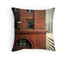 Building Corner Throw Pillow