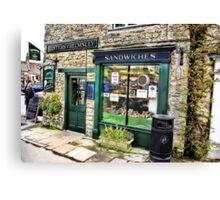 The Sandwich Shop - Helmsley. Canvas Print