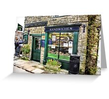 The Sandwich Shop - Helmsley. Greeting Card