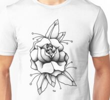 Black & Grey Rose Unisex T-Shirt