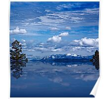 Reflections of snow and mountains Poster
