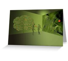 The begin of mankind on earth Greeting Card