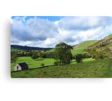 From Thorpe Cloud Dovedale. Canvas Print