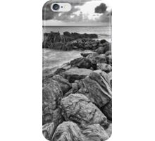 Textures and Sunrise_Yorkeys Knob_BW Version iPhone Case/Skin