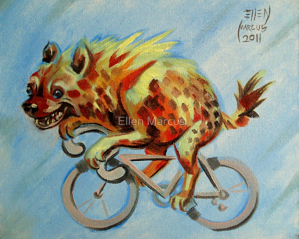 Hyena on a Bicycle by Ellen Marcus