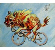 Hyena on a Bicycle Photographic Print